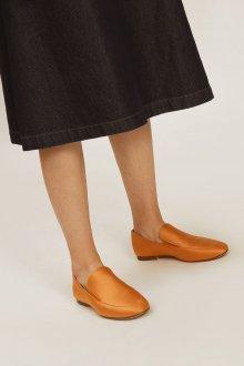 Лоферы женские оранжевые