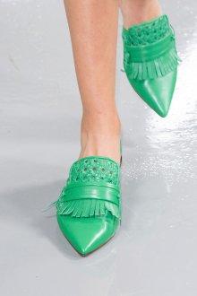 Лоферы женские зеленые