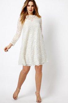 Платье для женщин с животом белое