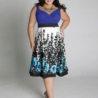 Платье для женщин с животом цветочное