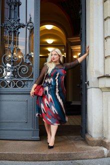 Платье для женщин с животом геометрическое