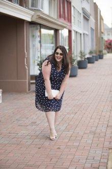 Платье для женщин с животом в горошек