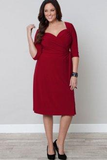 Платье для женщин с животом красное с рукавом