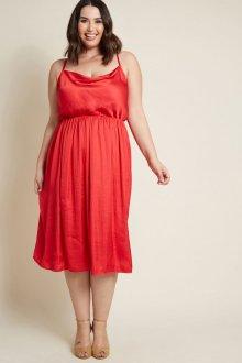 Платье для женщин с животом красное