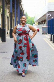 Платье для женщин с животом и крупным рисунком