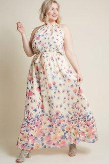 Платье для женщин с животом в мелкий принт