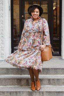 Платье для женщин с животом миди