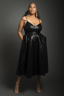 Платье для женщин с животом с пайетками