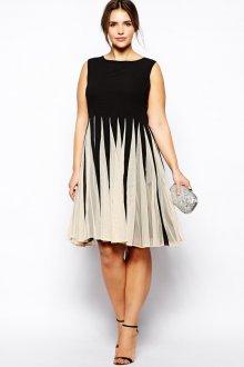 Платье для женщин с животом плиссе