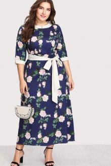 Платье для полных женщин с животом