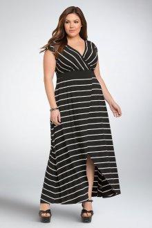 Платье для женщин с животом в полоску