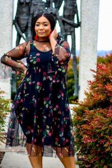 Платье для женщин с животом прозрачное