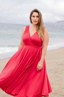 Платье для женщин с животом розовое