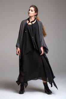 Платье для женщин с животом шифоновое
