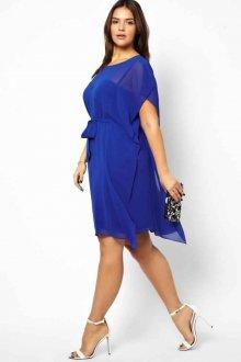 Платье для женщин с животом синее