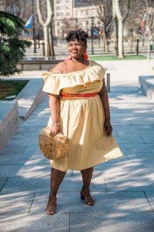 Платье для женщин с животом с воланами