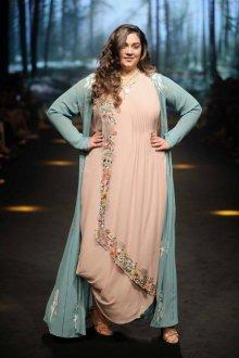 Платье для женщин с животом и вышивкой