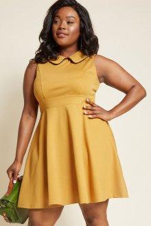 Платье для женщин с животом желтое