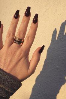 Маникюр на длинные ногти черный