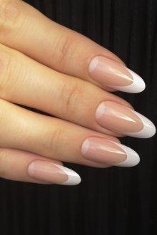 Маникюр на длинные ногти френч