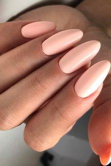 Маникюр на длинные ногти персиковые