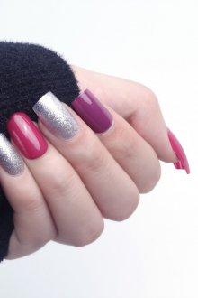 Маникюр на длинные ногти разноцветные