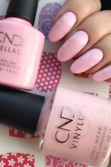 Маникюр на длинные ногти розовые