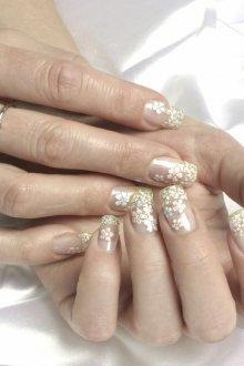 Маникюр на длинные ногти свадебный
