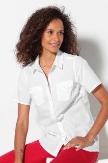 Блузка с коротким рукавом белая