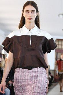 Блузка с коротким рукавом черно-белая
