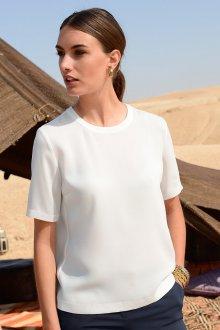 Блузка с коротким рукавом деловая