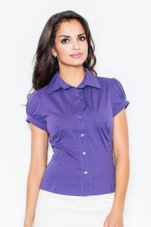 Блузка с коротким рукавом фонариком