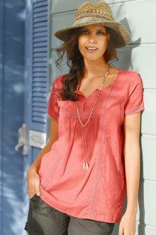 Блузка с коротким рукавом хлопковая