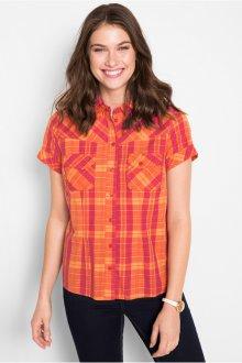 Блузка с коротким рукавом клетчатая