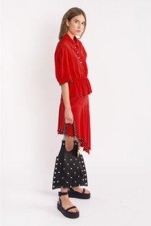 Блузка с коротким рукавом красная