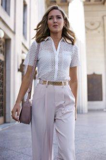 Блузка с коротким рукавом кружевная красивая
