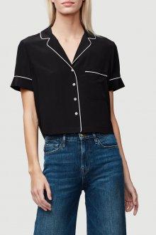 Блузка с коротким рукавом и отделкой