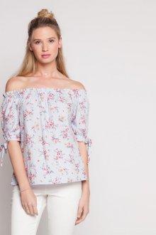 Блузка с коротким рукавом и открытыми плечами