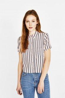 Блузка с коротким рукавом полосатая