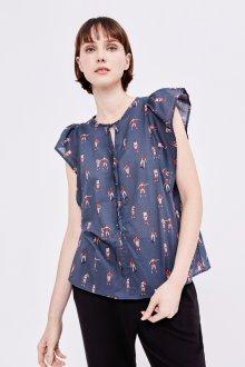 Блузка с коротким рукавом и принтом