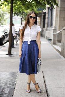Блузка с коротким рукавом простая