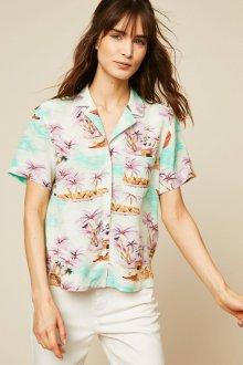 Блузка с коротким рукавом и рисунком