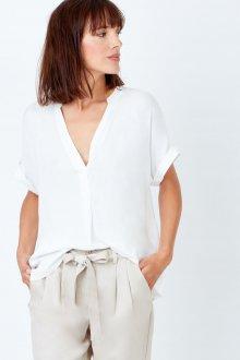 Блузка с коротким рукавом шифоновая белая