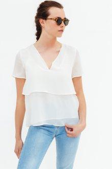 Блузка с коротким рукавом шифоновая летняя