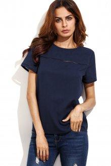 Блузка с коротким рукавом синяя