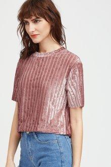 Блузка с коротким рукавом велюровая