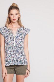 Блузка с коротким рукавом весенняя