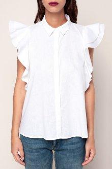 Блузка с коротким рукавом и воланами