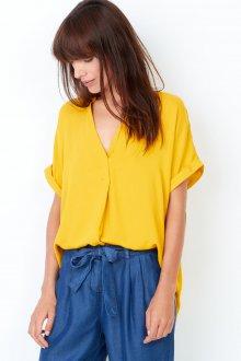 Блузка с коротким рукавом желтая