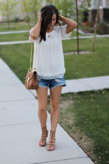 Блузка с коротким рукавом женская